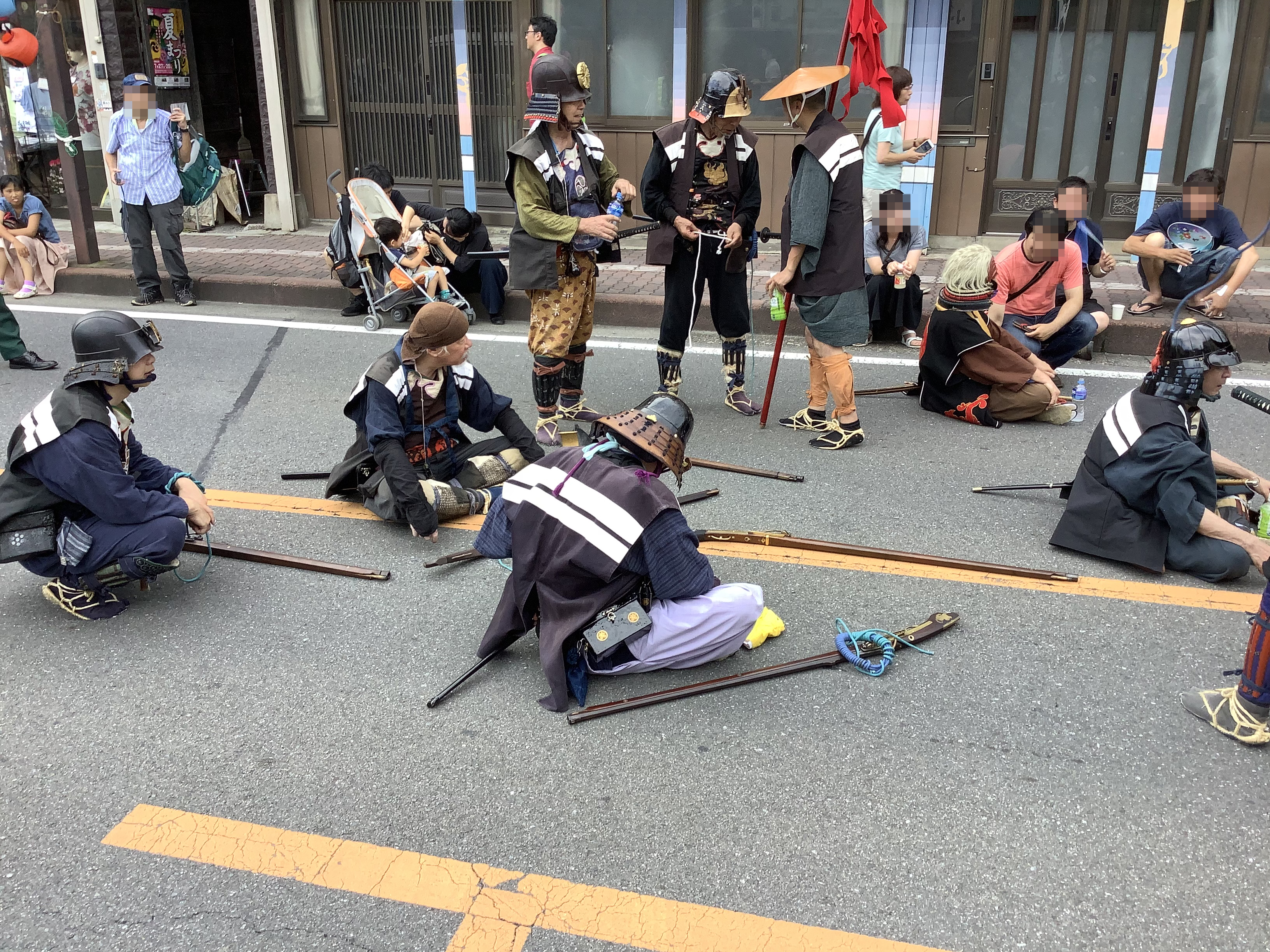 Samurais with Japanese rifles