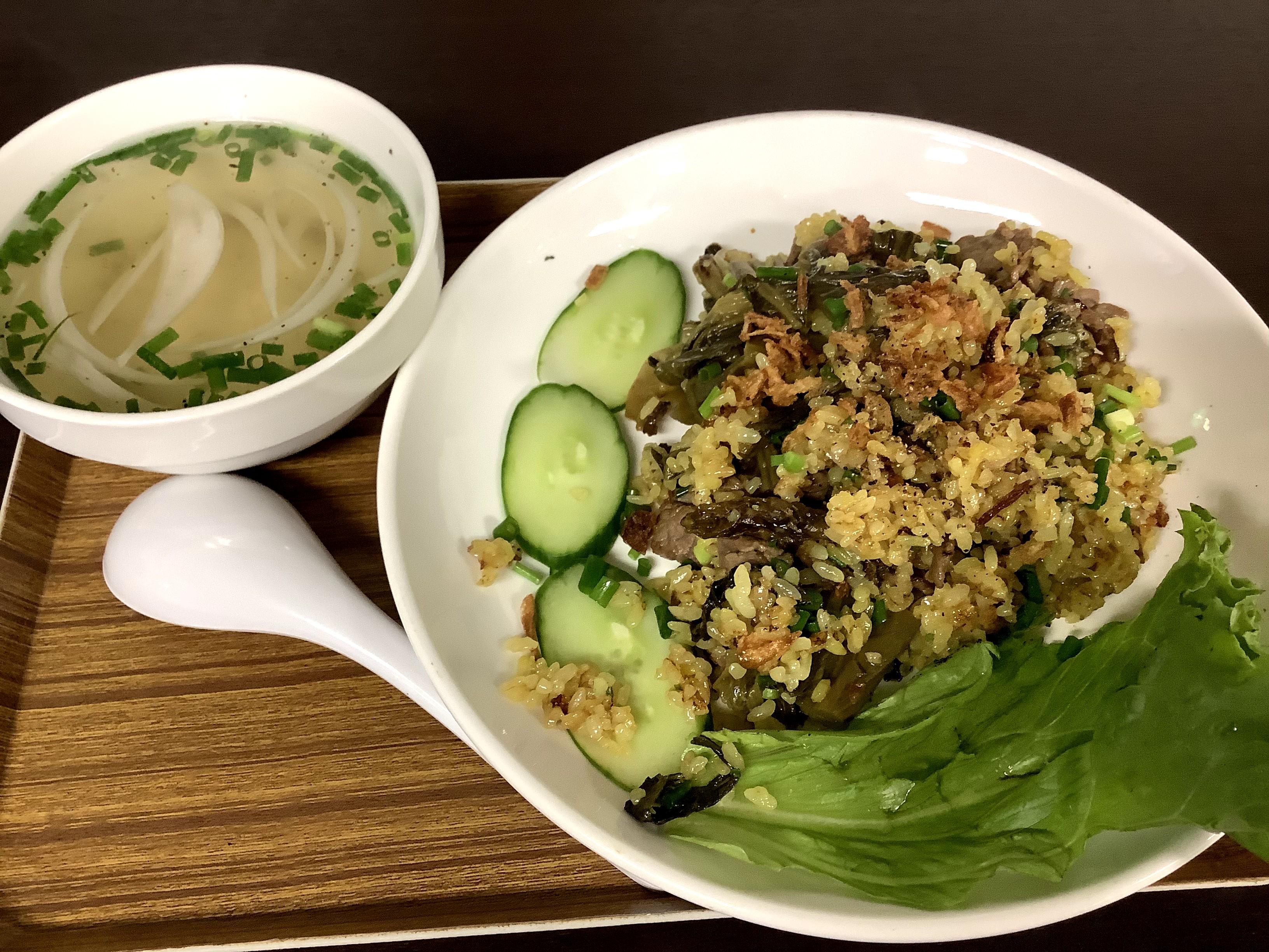 Fried rice with beef and Takana