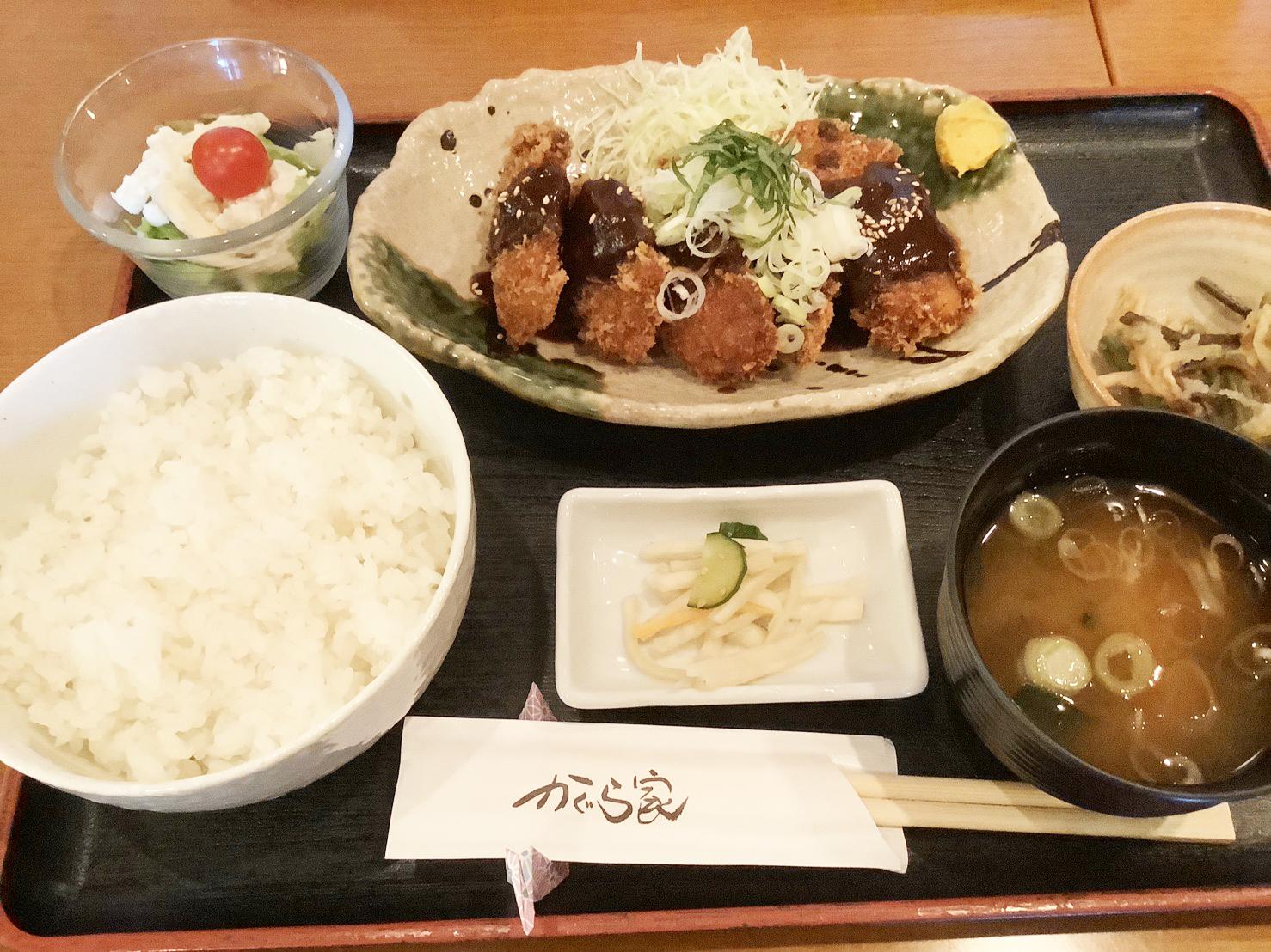 まぐろホホ肉の味噌カツ定食