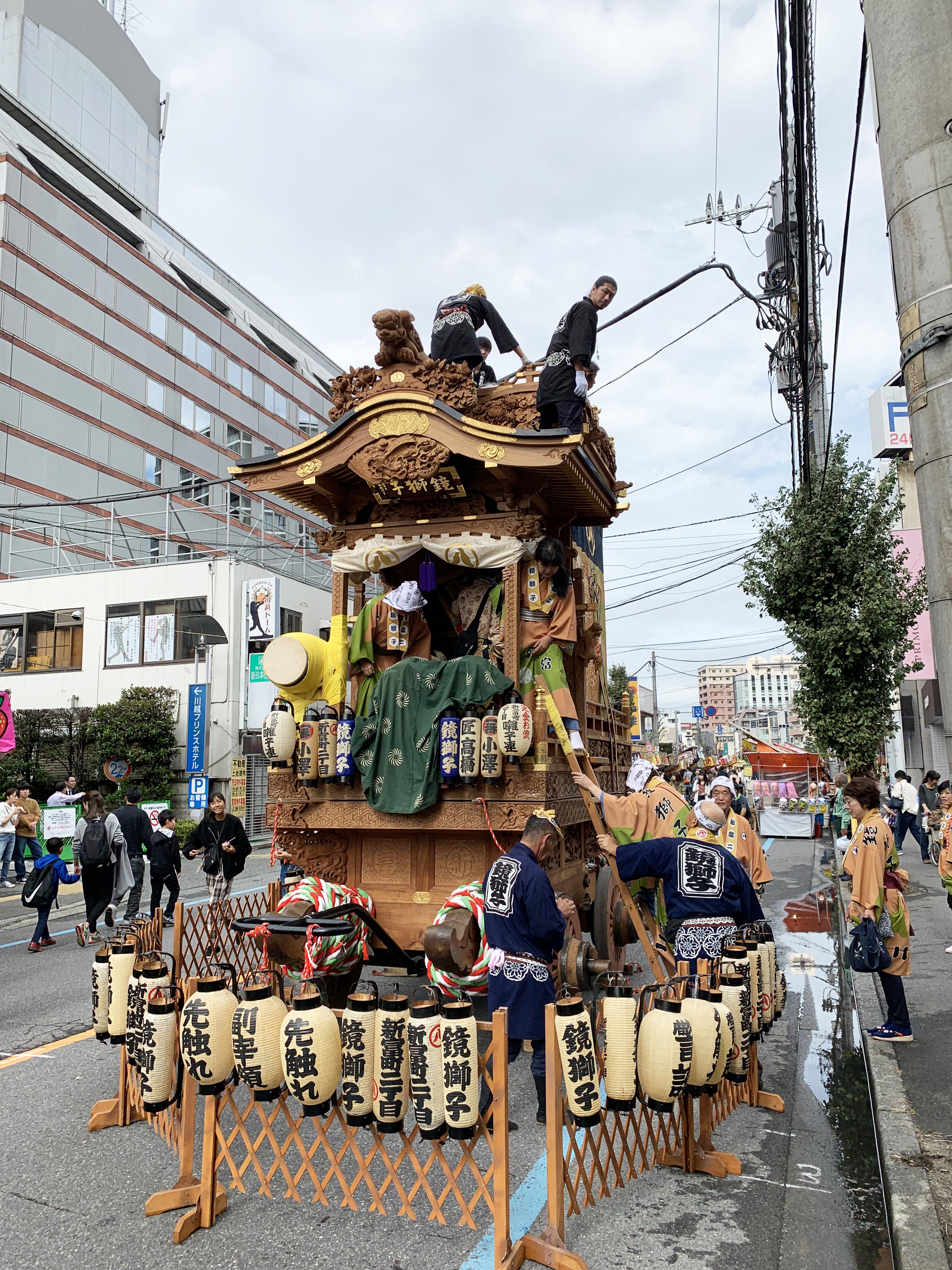 新富町、鏡獅子(かがみじし)の山車