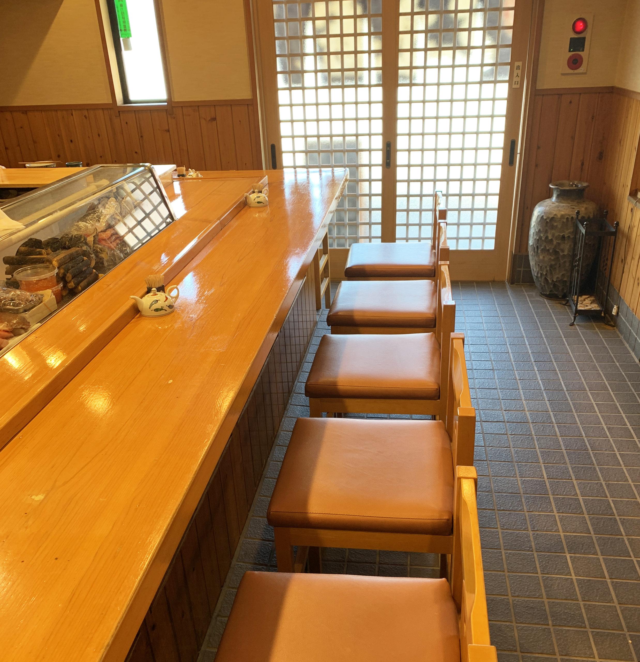 京寿し カウンター席
