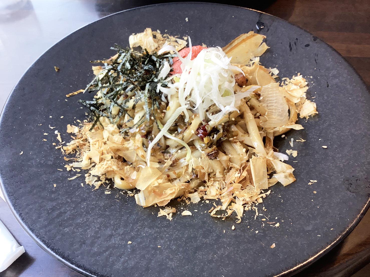 明太子と高菜の焼うどん