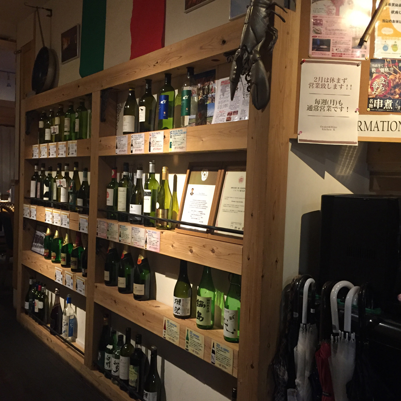 店内-ワイン
