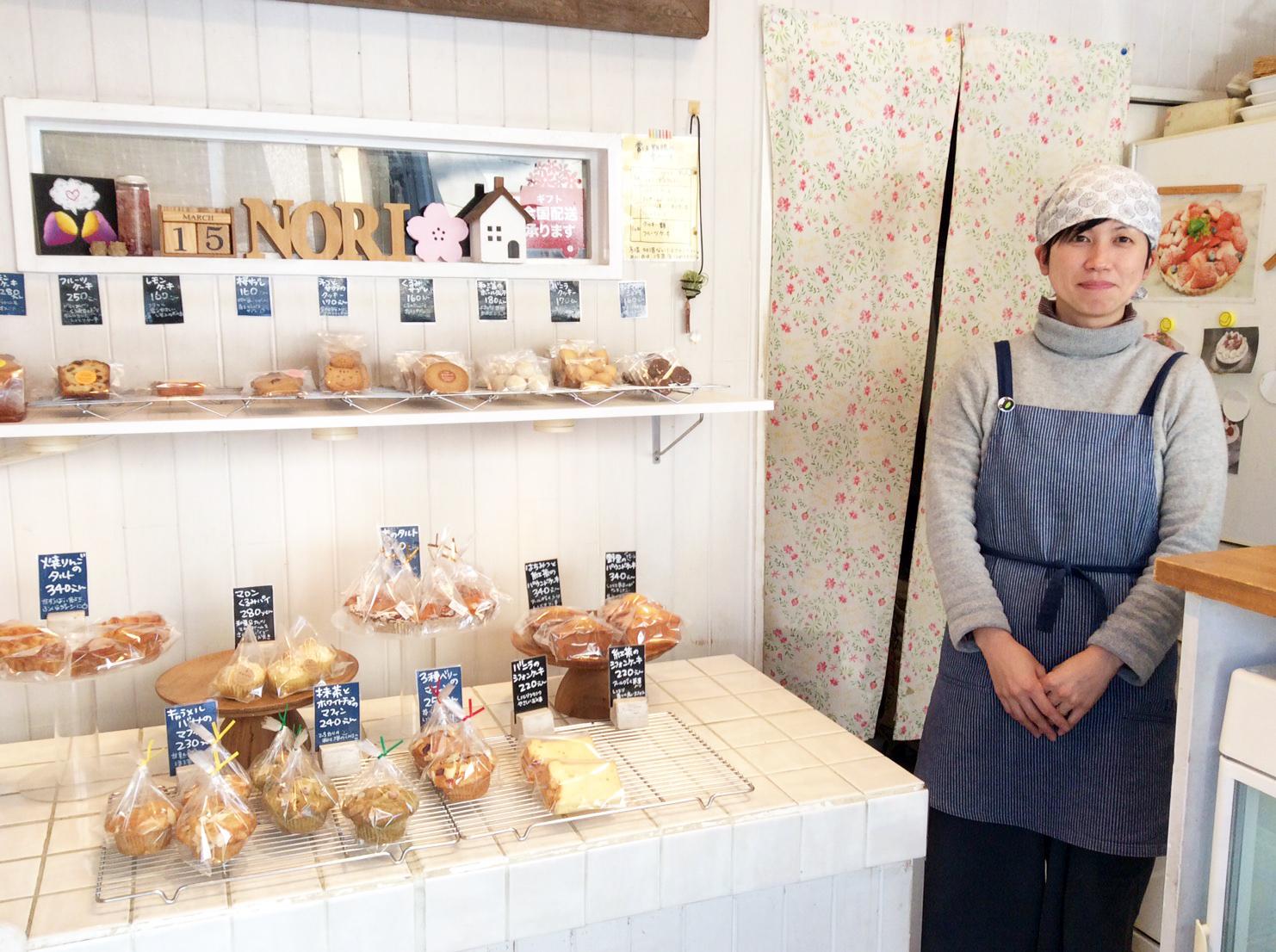 川越の焼き菓子「野里(のり)」女性スタッフ