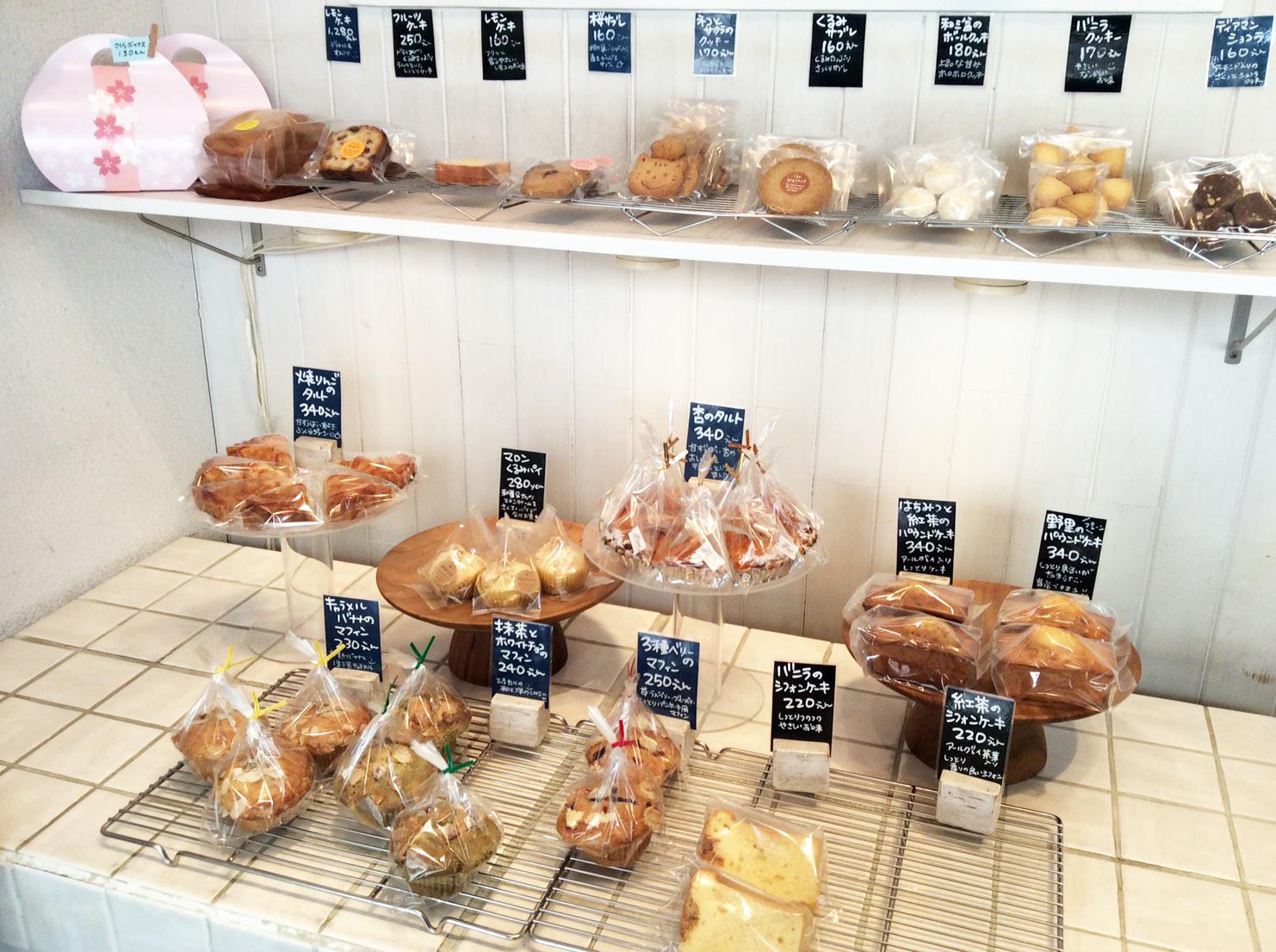 川越の焼き菓子「野里(のり)」店内商品