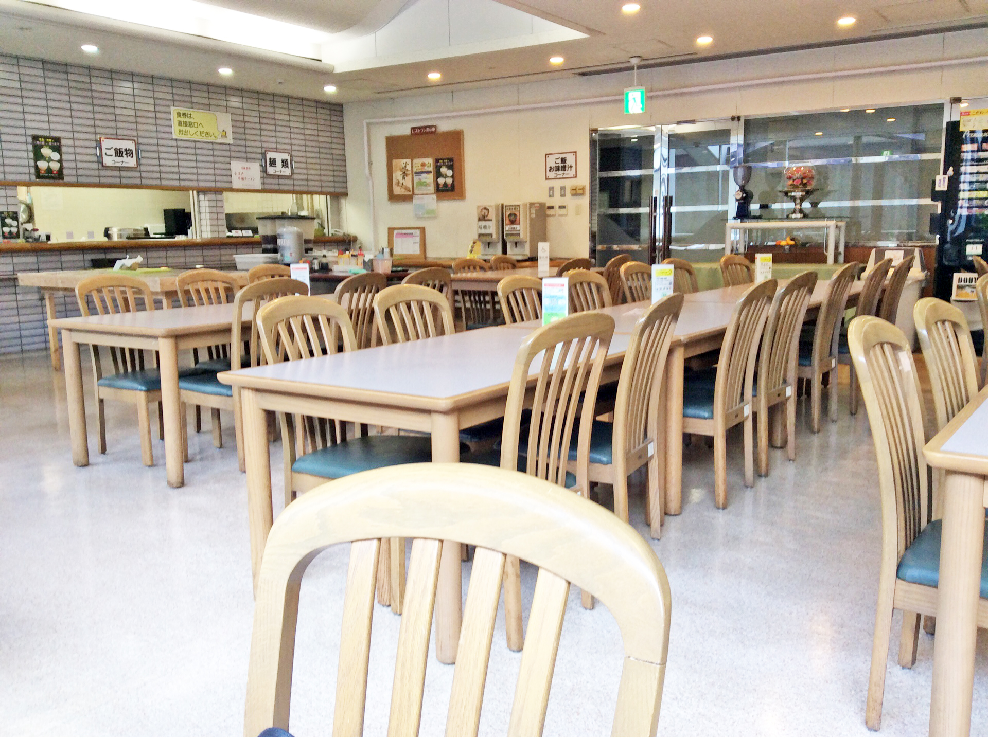 A cafeteria on the basement of Kawagoe municipal office