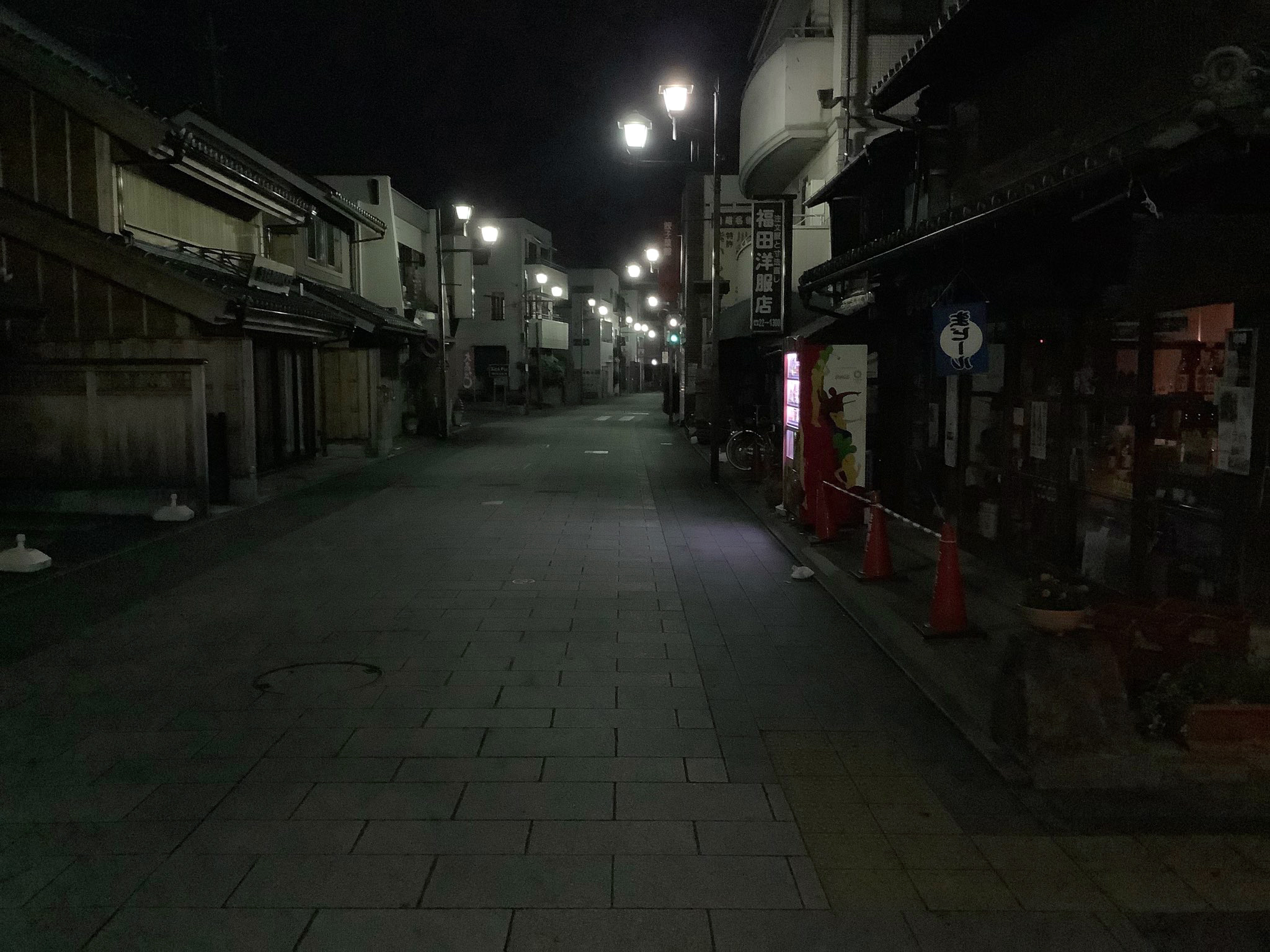 Ichiban-gai Street in the night