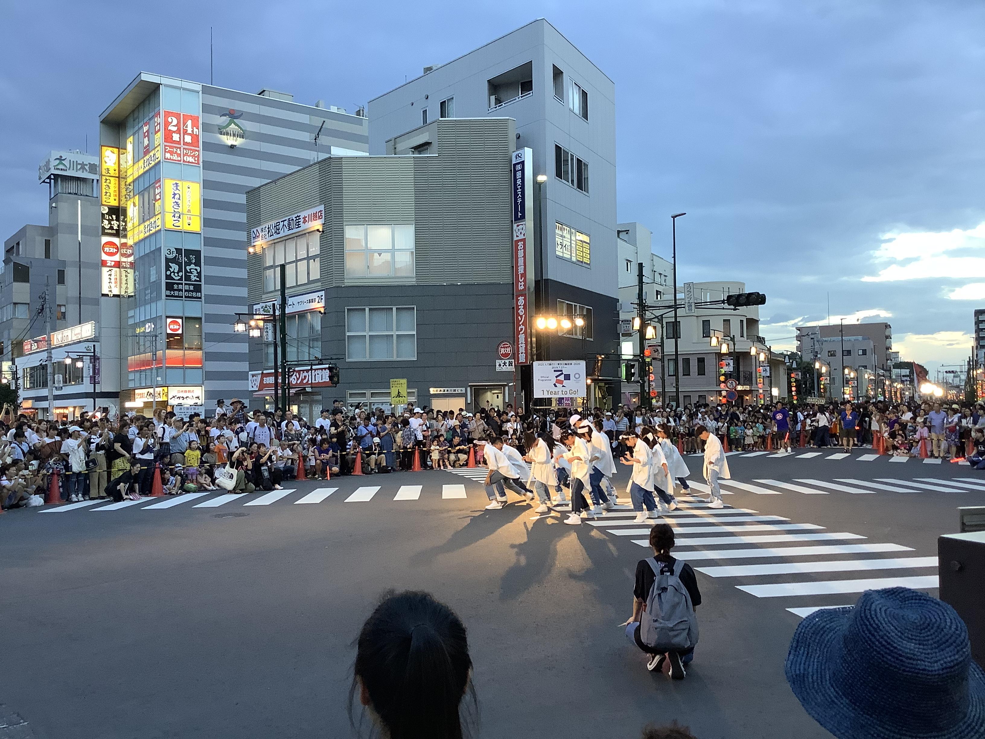 川越百万灯祭り 本川越駅前