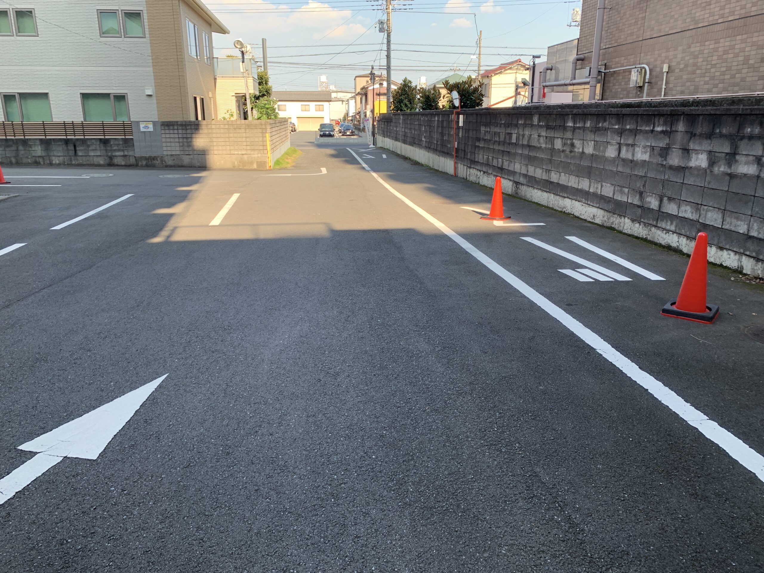 39号線側入り口-川越第一ホテル駐車場