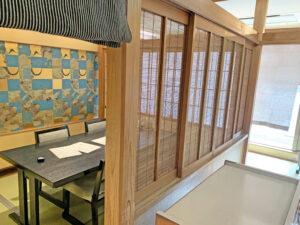 table in tatami mat room